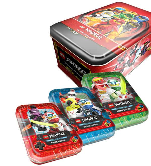7 Booster Lego® Ninjago™ Serie 5 Trading Card Game Mini Tin Box Rot mit LE13