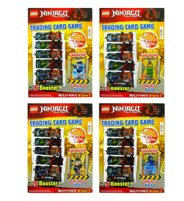 Lego Ninjago Serie 3 Trading Cards - All 4 Multi-Packs