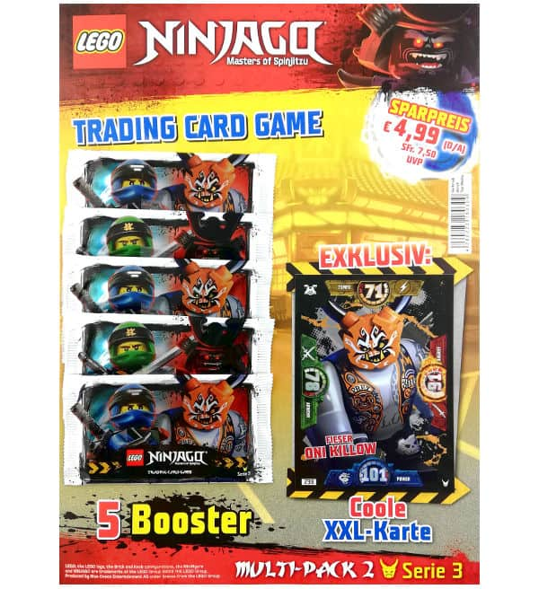 Lego Ninjago Serie 3 Multi-Pack 2 - XXL Card Fieser Oni Killow