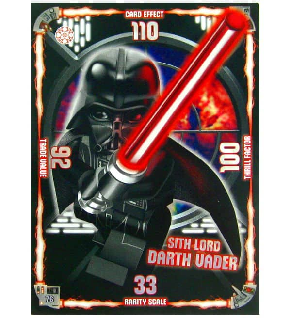 Lego Star Wars Serie 1 - XXL Card Sith Lord Darth Vader