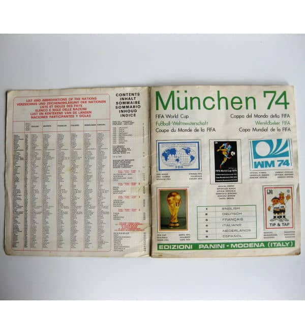 Panini Album Munich 74 Complete - Intro