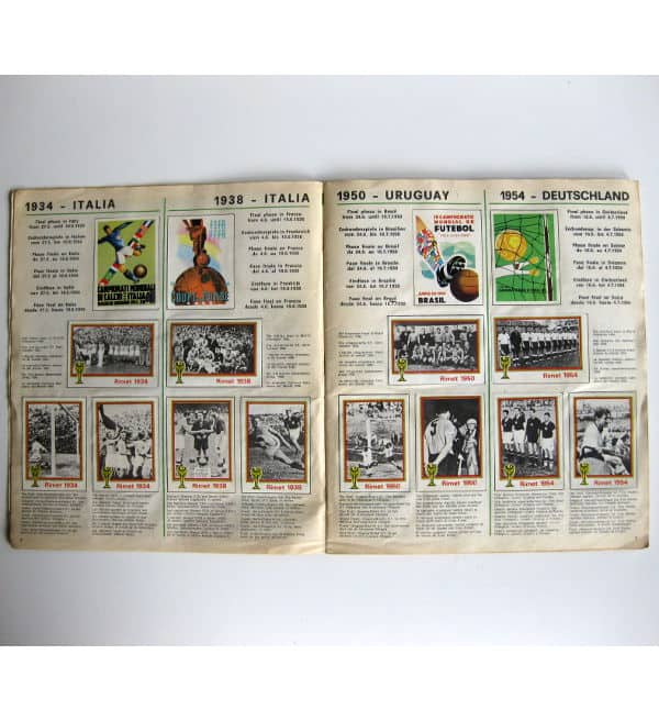 Panini Album Munich 74 Complete - World Champions 1934-1954