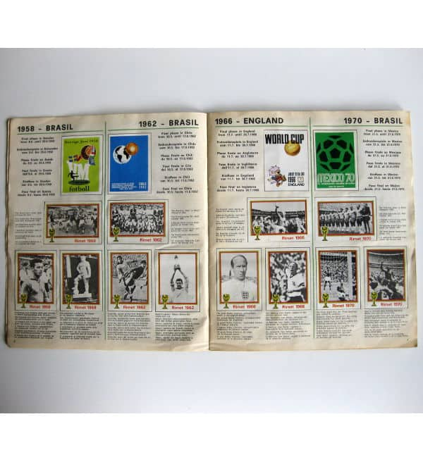 Panini Album Munich 74 Complete - World Champions 1958-1970