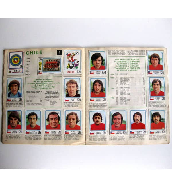 Panini Album Munich 74 Complete - Chile