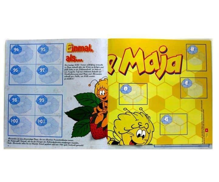 Panini Maya The Bee Stickeralbum - Inner Page and Poster
