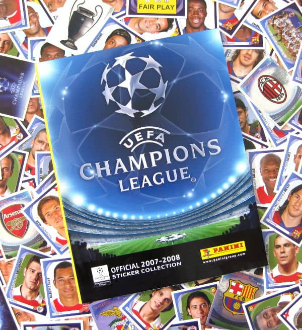 Panini Champions League 2007-2008 All Stickers + Album Front