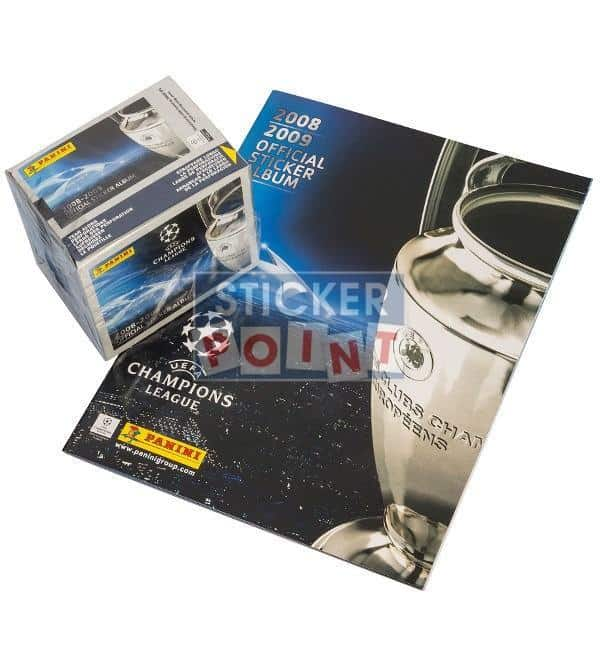 Panini Champions League 2008-2009 Display + Album Front