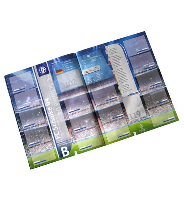 Panini Champions League 2012-2013 Album Teamsseite