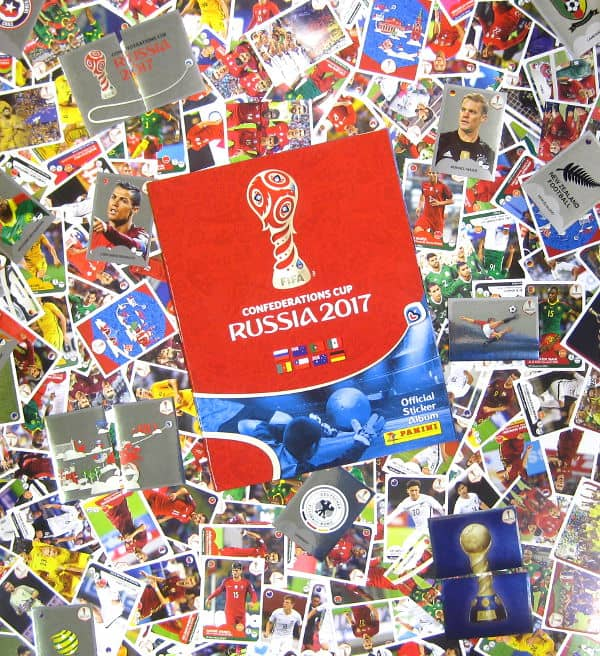 Panini Confederations Cup 2017 - All 288 Stickers + Album