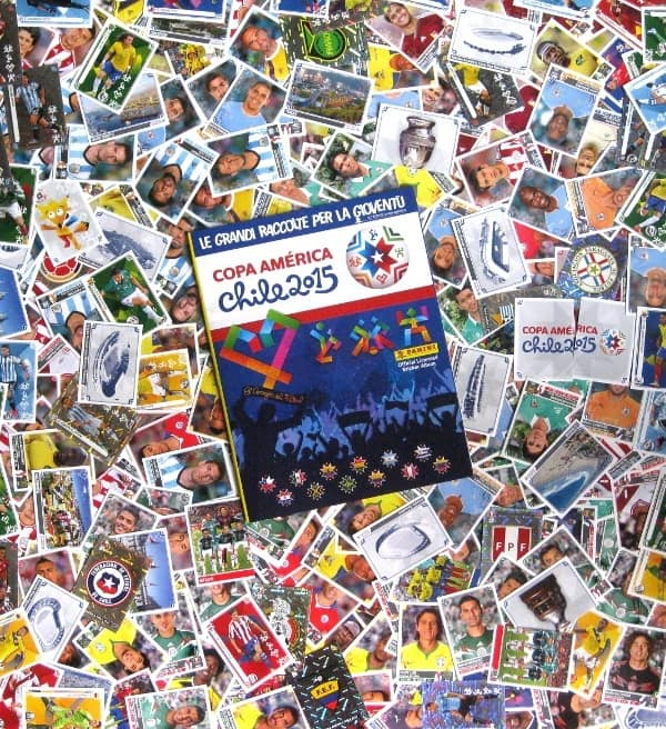 Panini Copa America 2015 - All 348 Stickers + Album