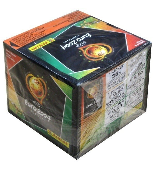 Panini Euro 2004 Box With 50 Packets Side View