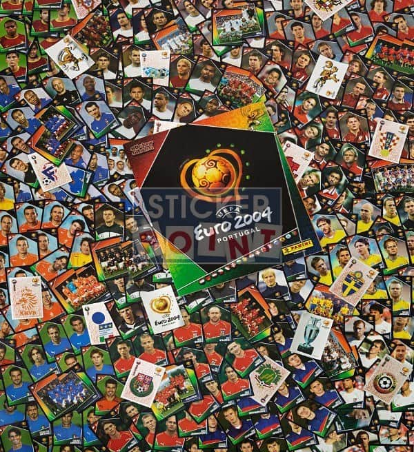 Panini EURO 2004 All Stickers with Album Front