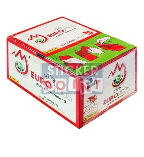 Panini EURO 2008 Display Box Red Front View