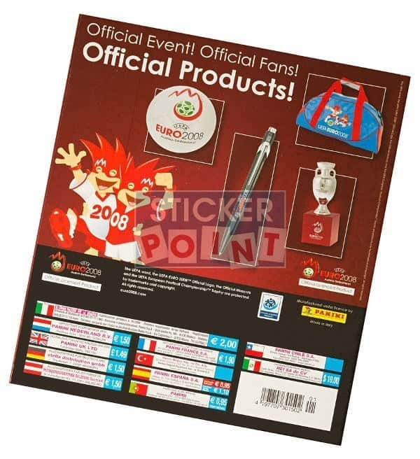 Panini EURO 2008 Empty Album Nord- South America Afrika Back