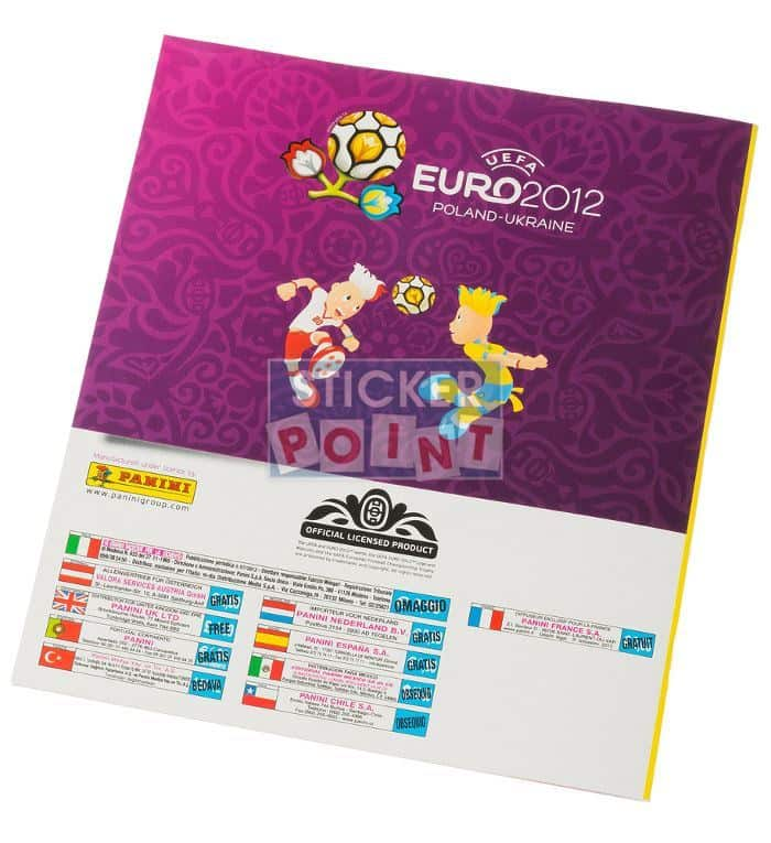 Panini EURO 2012 Album International Back