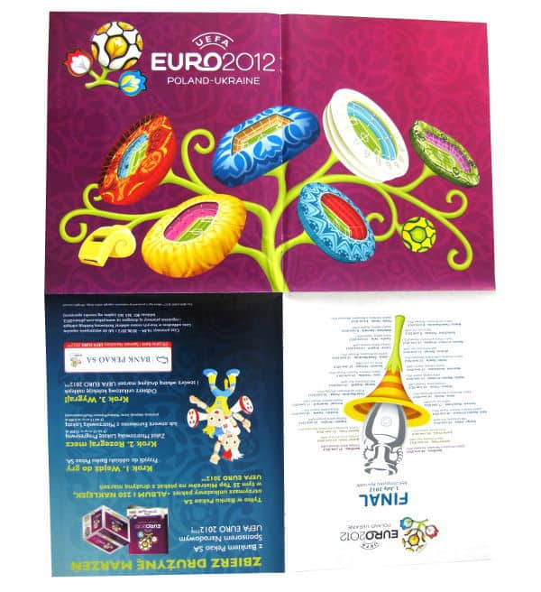 Panini Euro 2012 Album Version Poland Ukraine Poster Folded