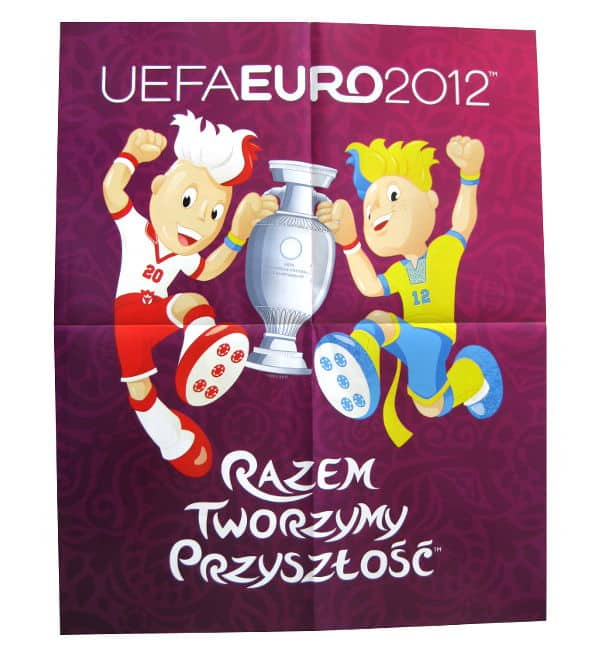 Panini Euro 2012 Album Version Poland Ukraine Poster Back