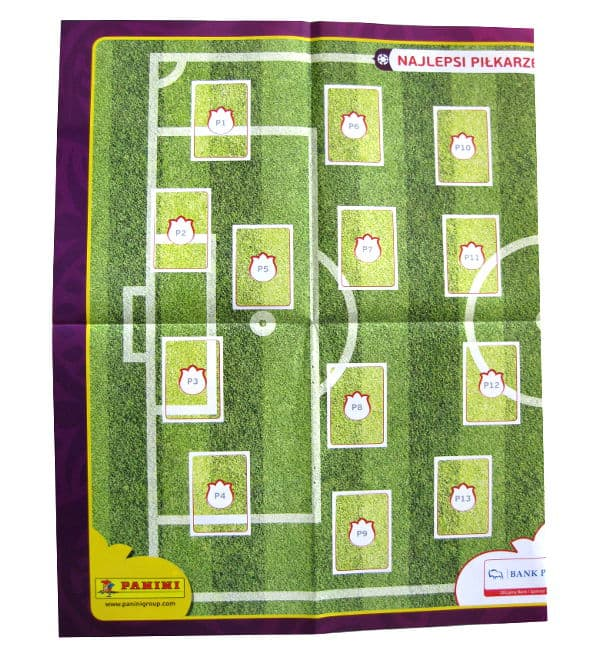 Panini Euro 2012 Album Version Poland Ukraine Poster P1-P13