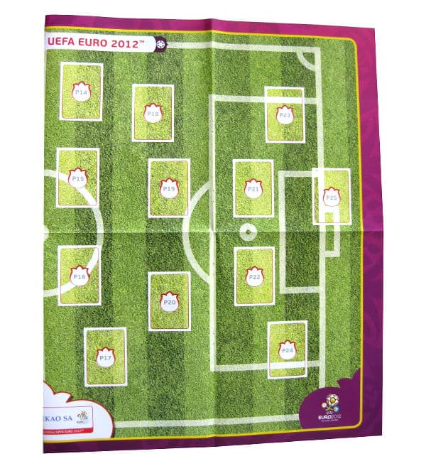 Panini Euro 2012 Album Version Poland Ukraine Poster P14-P25