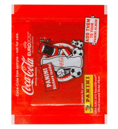 Panini Euro 2012 Coca Cola Promo Packet Special Stickers A-F