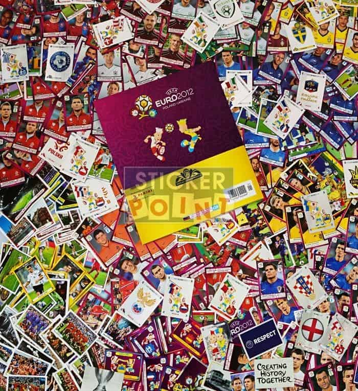 Panini EURO 2012 All Stickers with Album Back