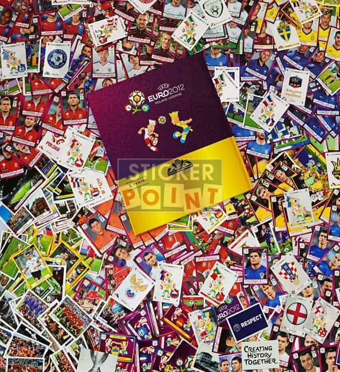 Panini EURO 2012 All Stickers with Hardcover Album Back