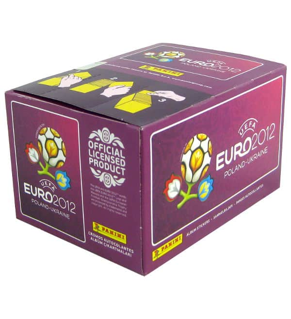 Panini Euro 2012 Purple Display With 100 Packets