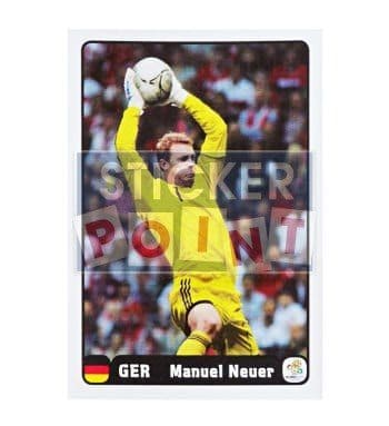 Panini EURO 2012 Manuel Neuer Sticker 4 of 6 Front