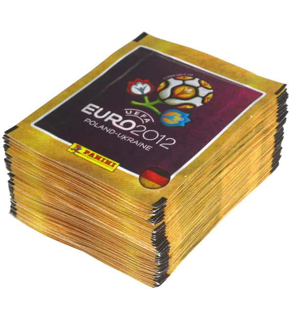 Panini EURO 2012 Stickers - 50 Packets German Version
