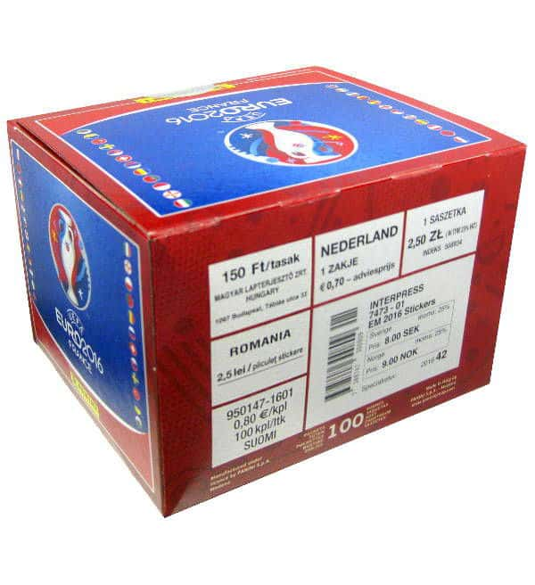 Panini EURO 2016 Box Red with 100 packets
