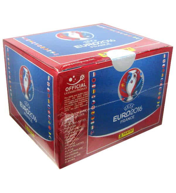 Panini EURO 2016 Display Red with 100 packets