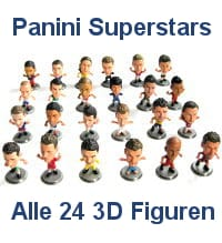 Panini EURO 2016 Superstars - all 24 Figures