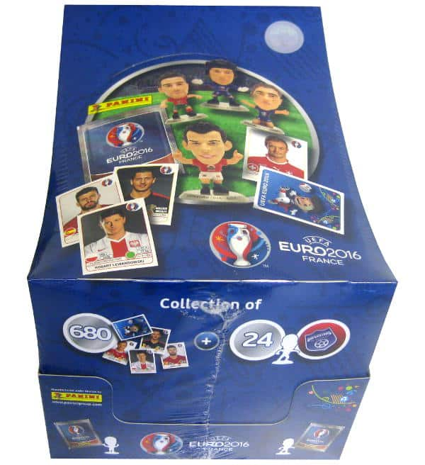 Panini EURO 2016 Superstars Display with 18 Packets