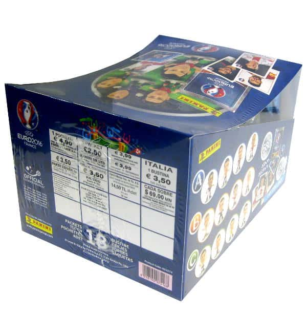 Panini EURO 2016 Superstars Figures Box with 18 Packets