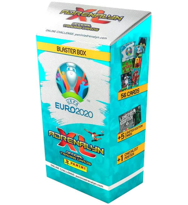 1x Limited Edition PANINI ROAD TO EURO 2020 ADRENALYN XL pocket tin Incl