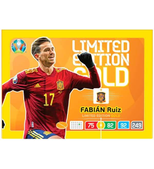 Panini Adrenalyn XL euro 2020 fabian Ruiz-Limited Edition