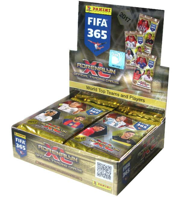 Panini FIFA 365 2017 Adrenalyn XL box open