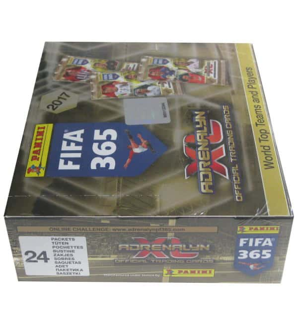 Panini FIFA 365 2017 Adrenalyn XL box side view