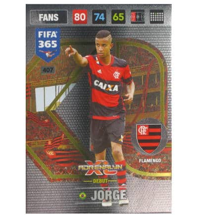 Panini FIFA 365 2017 Adrenalyn XL Card Fans Jorge