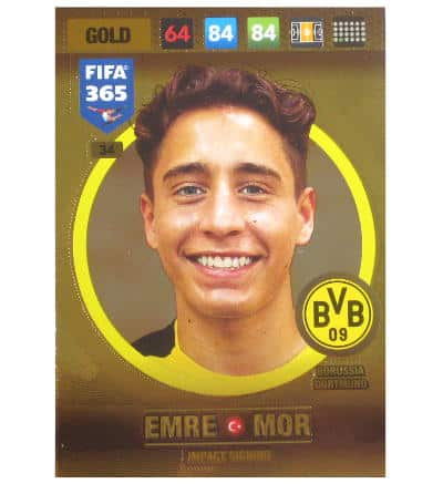 Panini FIFA 365 2017 Adrenalyn XL Card Gold Emre Mor