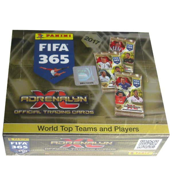 Panini FIFA 365 2017 Adrenalyn XL display with 24 boosters