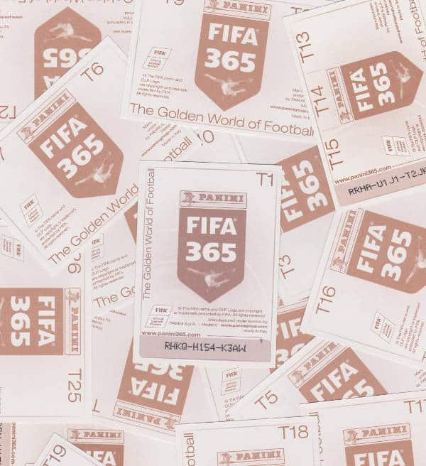 Panini FIFA 365 Special Stickers T1-T30 Backs