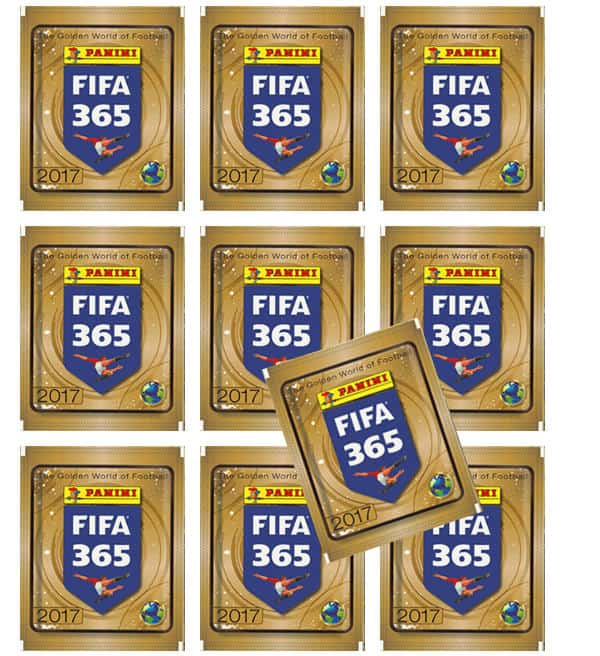 Panini FIFA 365 Stickers 2017 - 10 Packets