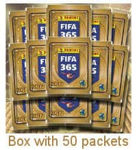 Panini FIFA 365 Stickers 2017 Box With 50 Packets