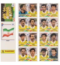 Panini World Cup France 98 - Iran Sheet Original UK