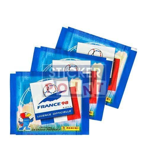 Panini World Cup France 98 3 Sticker Packets Front