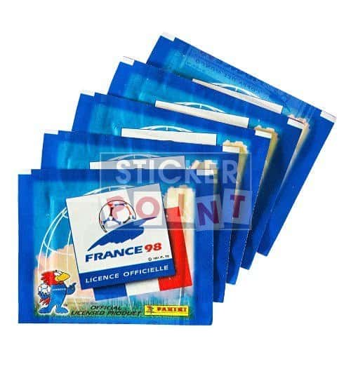Panini World Cup France 98 5 Sticker Packets Front