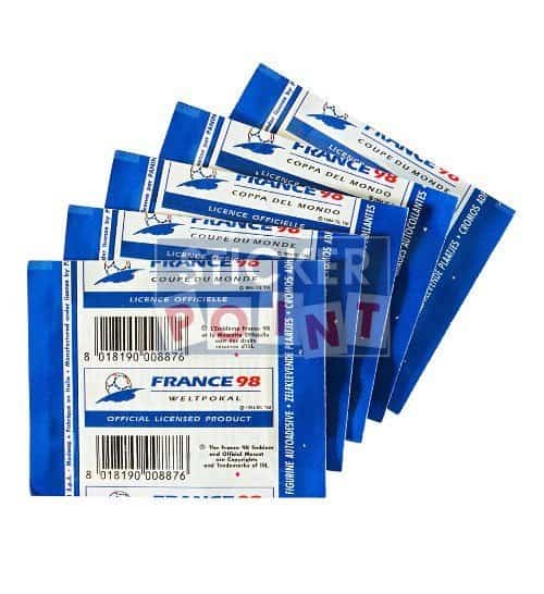 Panini World Cup France 98 5 Sticker Packets Back