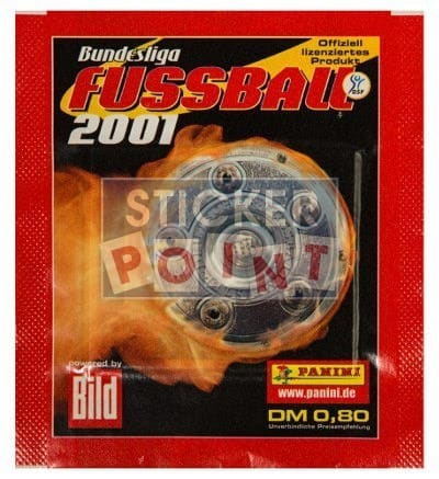 Panini Fussball 2001 Packet Front