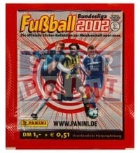Panini Fussball 2002 Packet - original With 5 Stickers